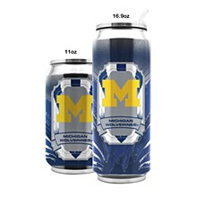 University of Michigan Stainless Steel Thermocan 16.9 oz