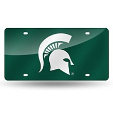 Michigan State University License Plate Laser Tag Green
