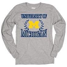 University of Michigan Men's Ringspun Long Sleeve Tee Size Large