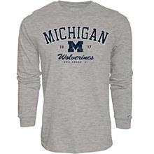 University Of Michigan Mill Dyed Long Sleeve Tee Heather