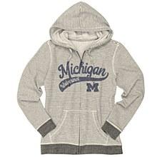 University of Michigan Ladies Sanded Fleece Full Zip