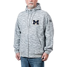 Michigan Wolverines Clutch Full-Zip Hoodie - Heather Gray