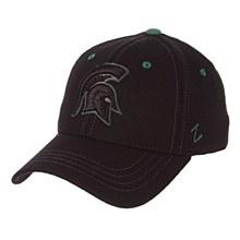 Michigan State University Spartans Black Element - Standard Black Zfit ZClassic Stretch Fit Hat
