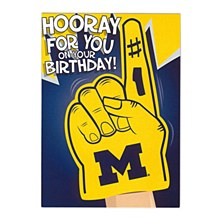 University of Michigan ''Hooray'' Birthday Greeting Card