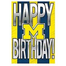 University of Michigan Happy Birthday Greeting Card
