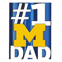University of Michigan Father's Day #1 Dad Greeting Card