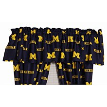 University of Michigan Printed Curtain Valance 84'' x 15''