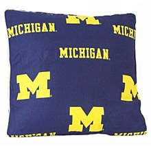 "University of Michigan Wolverines 16"" Decorative Pillow"