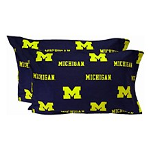 University of Michigan Printed Pillow Case - King - (Set of 2)