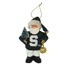"Michigan State University 6"" santa ornament"