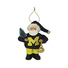 University of Michigan Santa Ornament ''6
