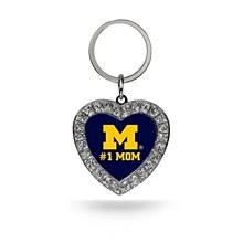 University of Michigan Keychain #1 Mom Heart