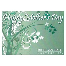 Michigan State Spartans Mother's Day Card