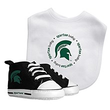 Michigan State University Bib with Pre-Walkers