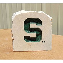"Michigan State University 6in ""S"" Stone"