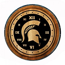 Michigan State University Clock - Barrelhead 24''