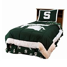 Michigan State University Bedroom - Spartans Reversible Comforter Set - Twin