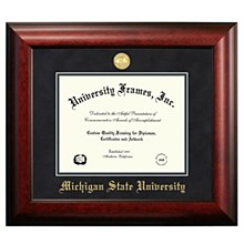 Michigan State University Frame - Satian Mahogany 8.5x11