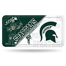 Michigan State University License Plate Metal Tag