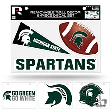 """Michigan State Spartans Removable Wall Decor Set (8.5"""" X 11"""")"""