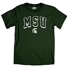 Michigan State University Men's dyed t-shirt 100% ringspun cotton