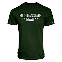 Michigan State Dad Road Block Tee Shirt