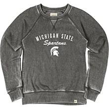 Michigan State University Women's Burnout Wash Fleece Crew