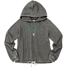 Michigan State University Women's Burnout Hood Sweatshirt