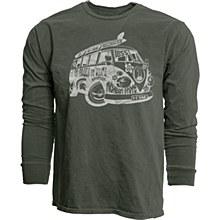 Michigan State University Men's Overdyed Long Sleeve T-Shirt 100% Cotton