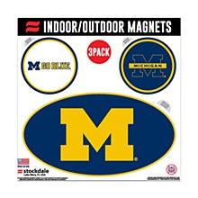 University of Michigan Outdoor Magnets 3 Pack