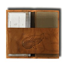 Detroit Red Wings NHL Leather Embossed Checkbook Cover