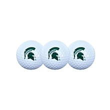 Michigan State Spartans 3 Golf Balls