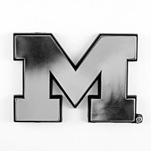 University of Michigan Emblem Chrome