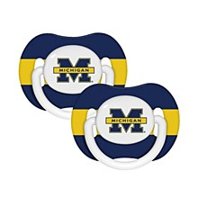 University of Michigan  2 Pack Pacifier Set Baby Fanatic