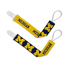 University of Michigan 2pk Pacifier Clips
