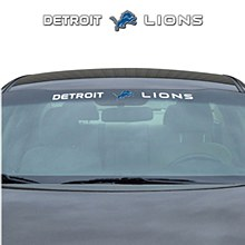 Detroit Lions Decal Windshield 35'' x 4''