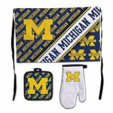 University of Michigan Barbeque Tailgate 3 Pice Set-Premium