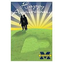 University of Michigan Happy Anniversary Card