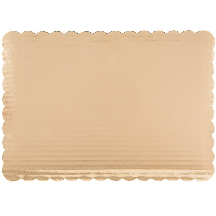 Gold Board 10x14 Scalloped 6/p