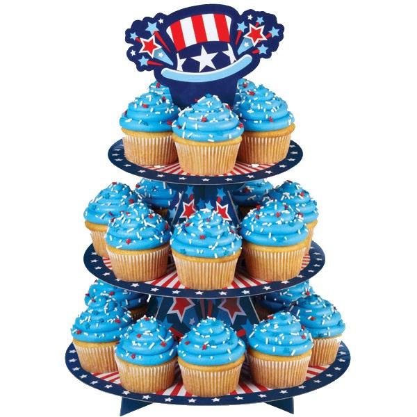 Wilton Patriotic Cupcake/dessert Stan