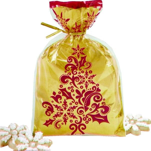 Wilton Fancy Foil Treat Bags/gold W R