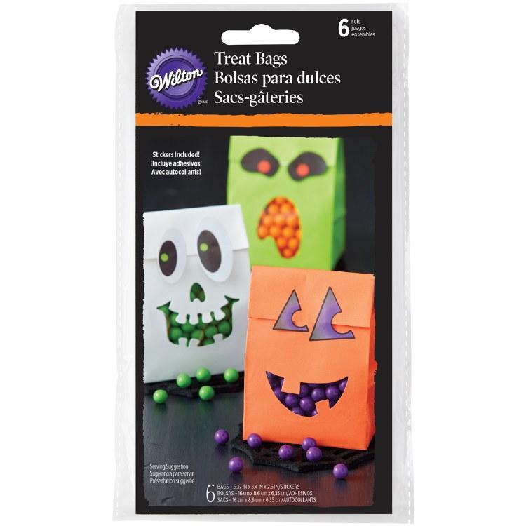 Wilton Hlw Treat Bags W/stickers 6/pk