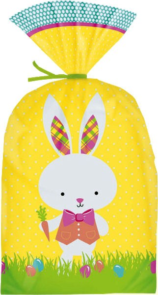 Wilton Bunny Party Bags/yellow Backgr