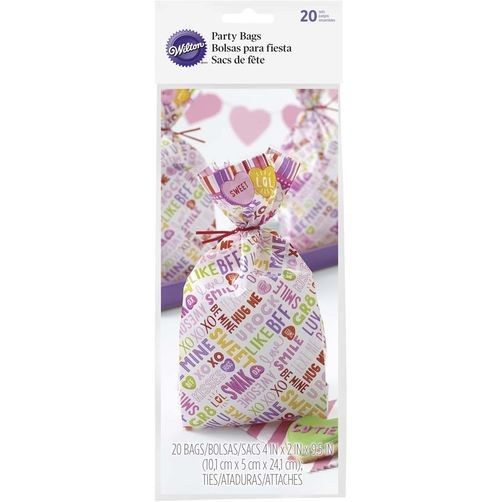 Wilton Party Bags Candy Heart 20pkg.
