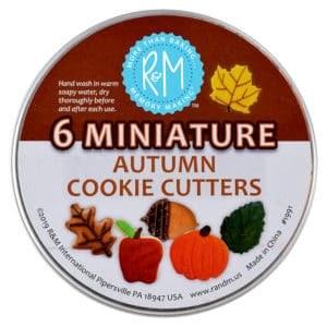 Mini Autumn Cookie Cutters 6pc