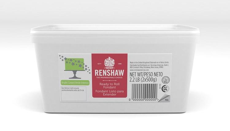 Renshaw Fondant: Bright Green 2.2 Lb