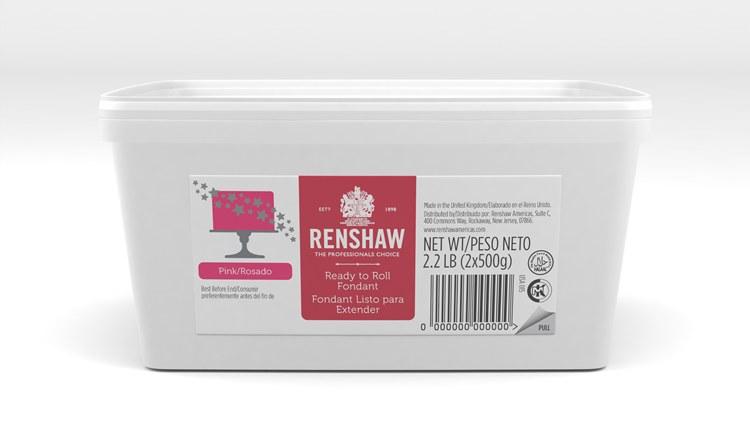 Renshaw Fondant: Pink 2.2 Lb