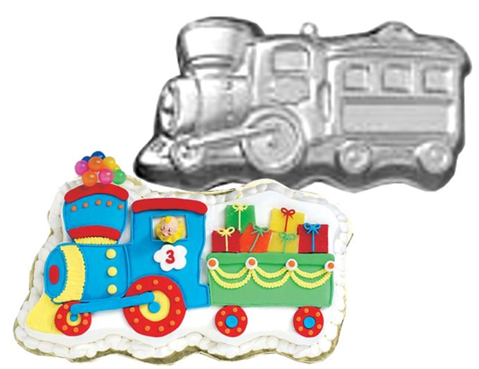 Wilton Train Shaped Cake