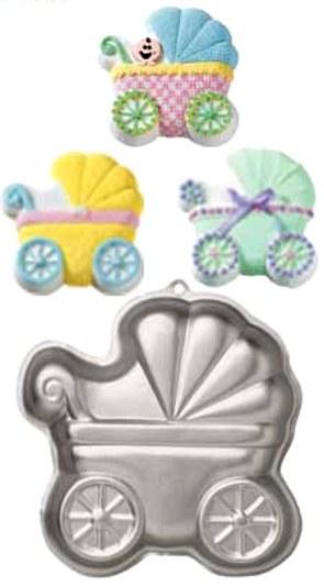 Wilton Baby Buggy Shaped Pan