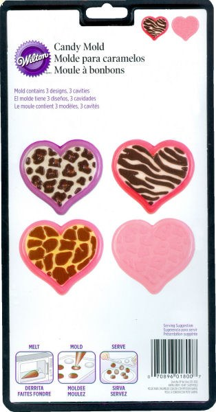 Wilton Animal Print Hearts